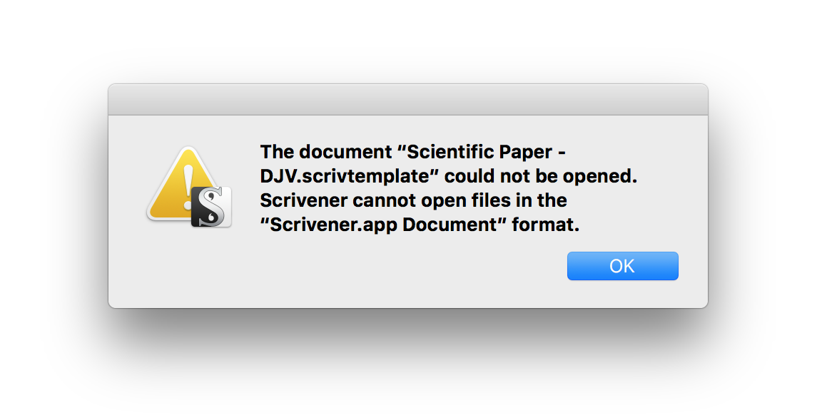 Importing a scrivener template for scientific papers daniel vreeman it seems like you should just be able to double click that rivtemplate file to get started alas if you try that youll be greeted with this nice pronofoot35fo Images