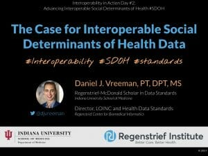 The Case for Interoperable Social Determinants of Health Data
