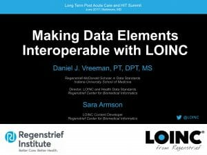 Making data elements interoperable with LOINC