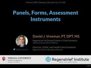 LOINC Tutorial: Panels, Forms, and Assessment Instruments